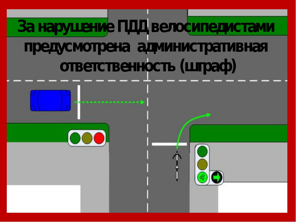 За нарушение ПДД велосипедистами предусмотрена административная ответственнос...