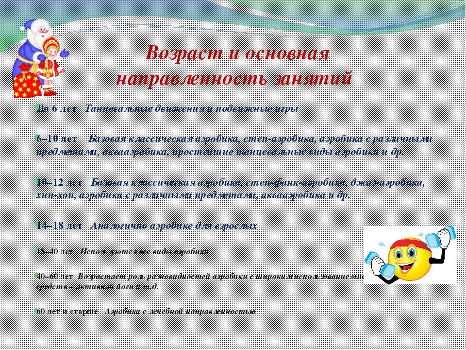 До 6 лет Танцевальные движения и подвижные игры 6–10 лет Базовая классическая...