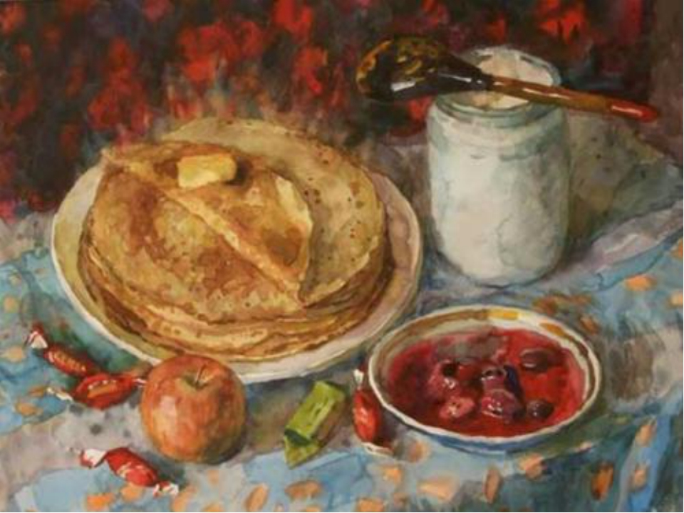 Да и сегодня, несмотря ни не какие диеты и ограничения, блины в России едят д...