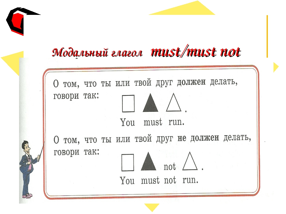 Модальный глагол must/must not .