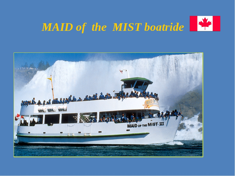 MAID of the MIST boatride