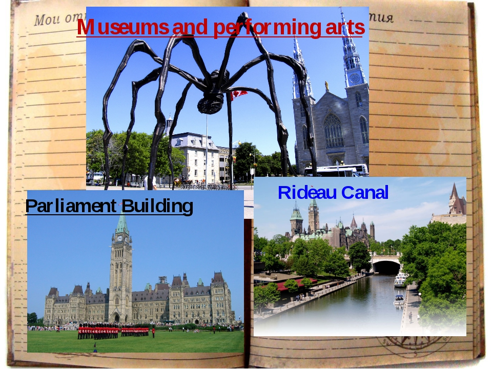 Museums and performing arts Parliament Building Rideau Canal