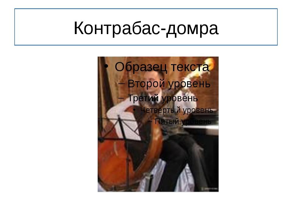 Контрабас-домра