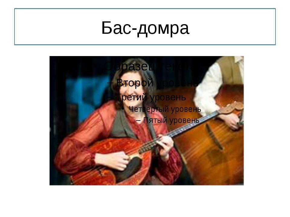 Бас-домра