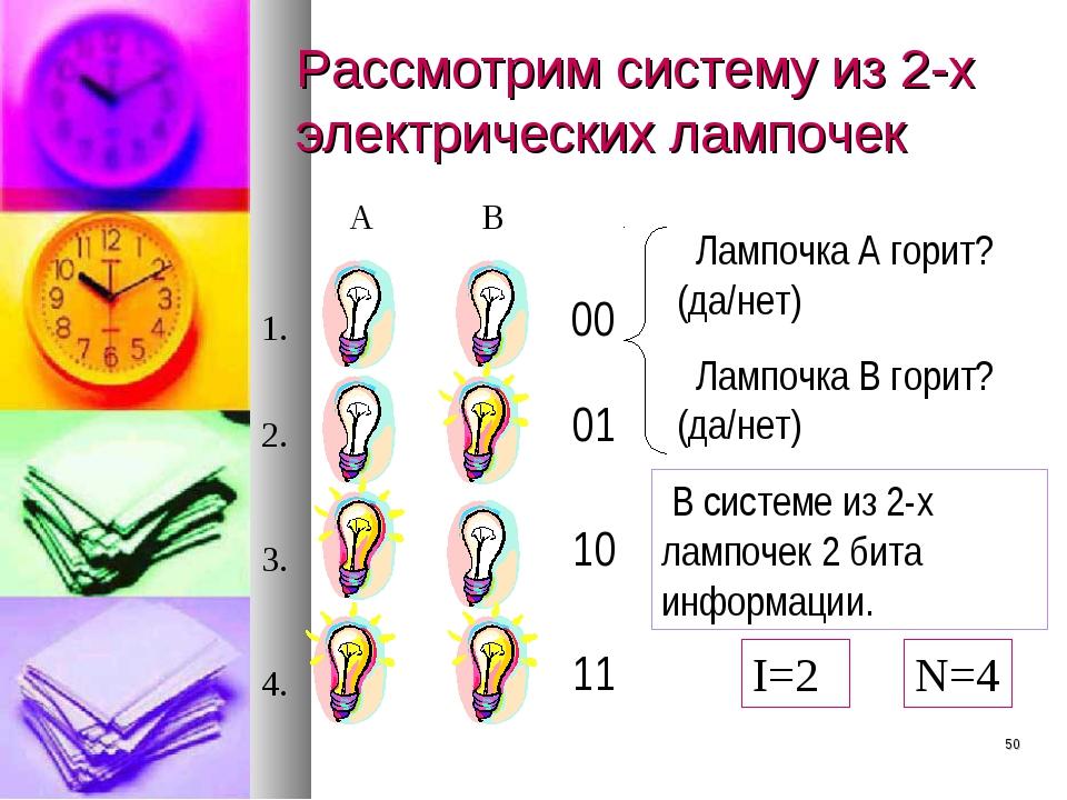 * Рассмотрим систему из 2-х электрических лампочек А B В системе из 2-х лампо...