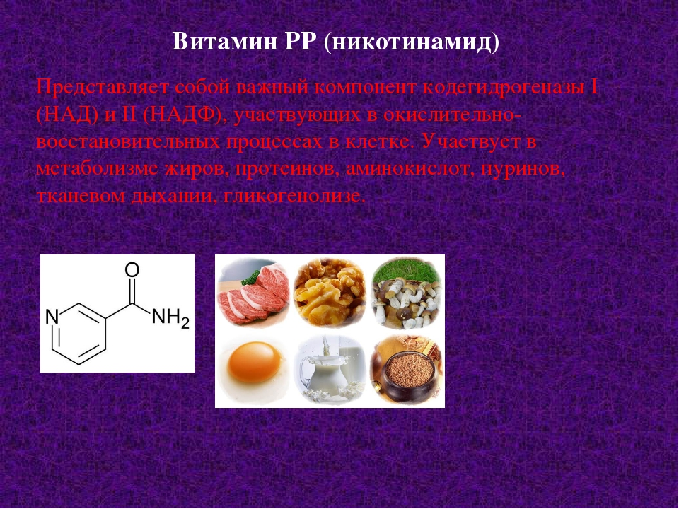Витамин РР (никотинамид) Представляет собой важный компонент кодегидрогеназы...