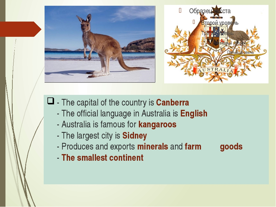 - The capital of the country is Canberra - The official language in Australia...