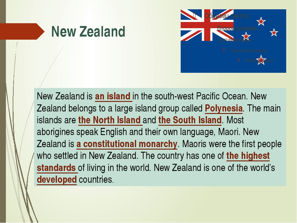 New Zealand New Zealand is an island in the south-west Pacific Ocean. New Zea...