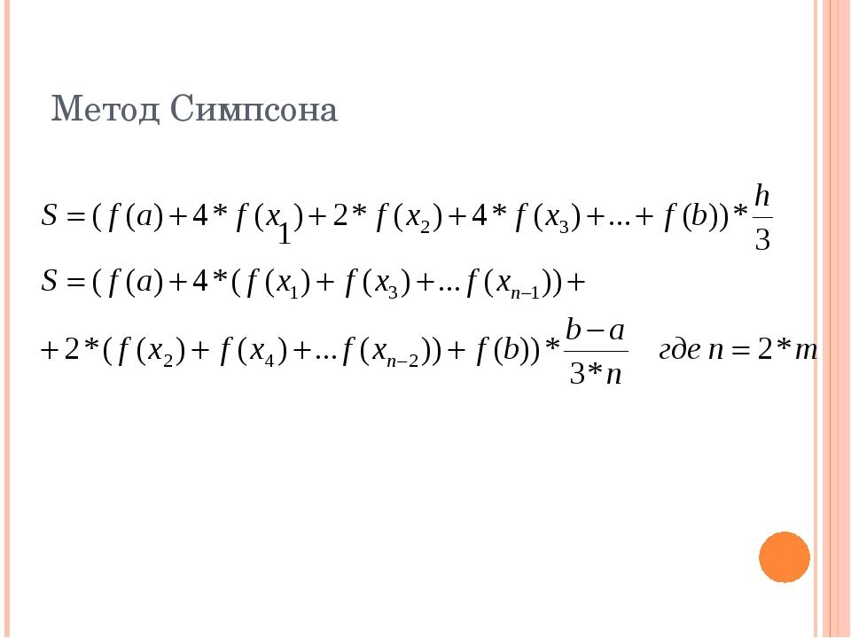 Метод Симпсона