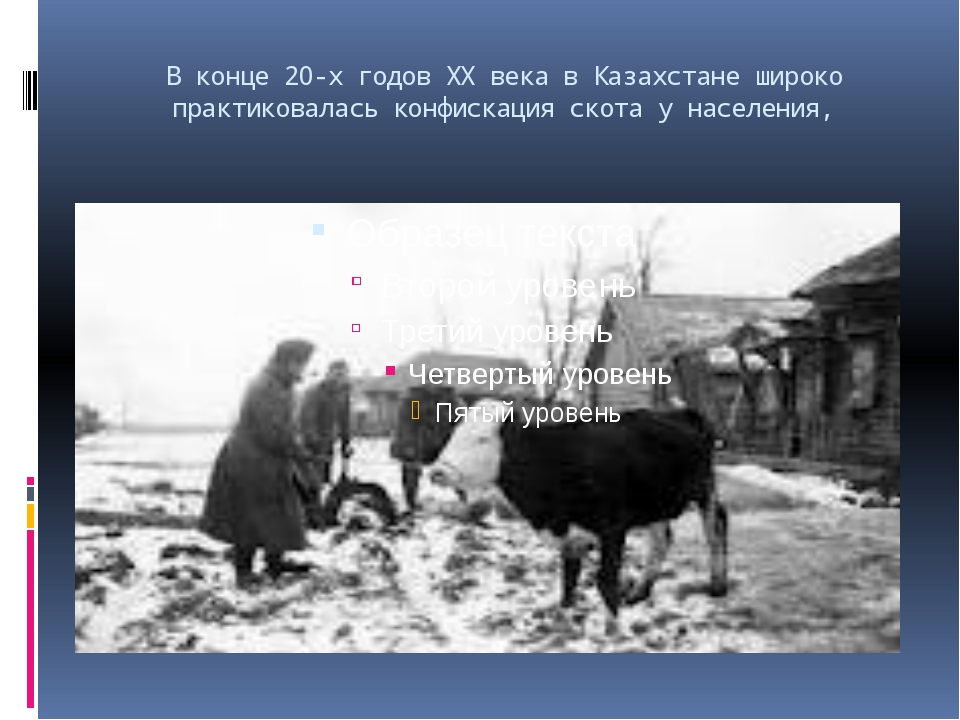 В конце 20-х годов XX века в Казахстане широко практиковалась конфискация ско...