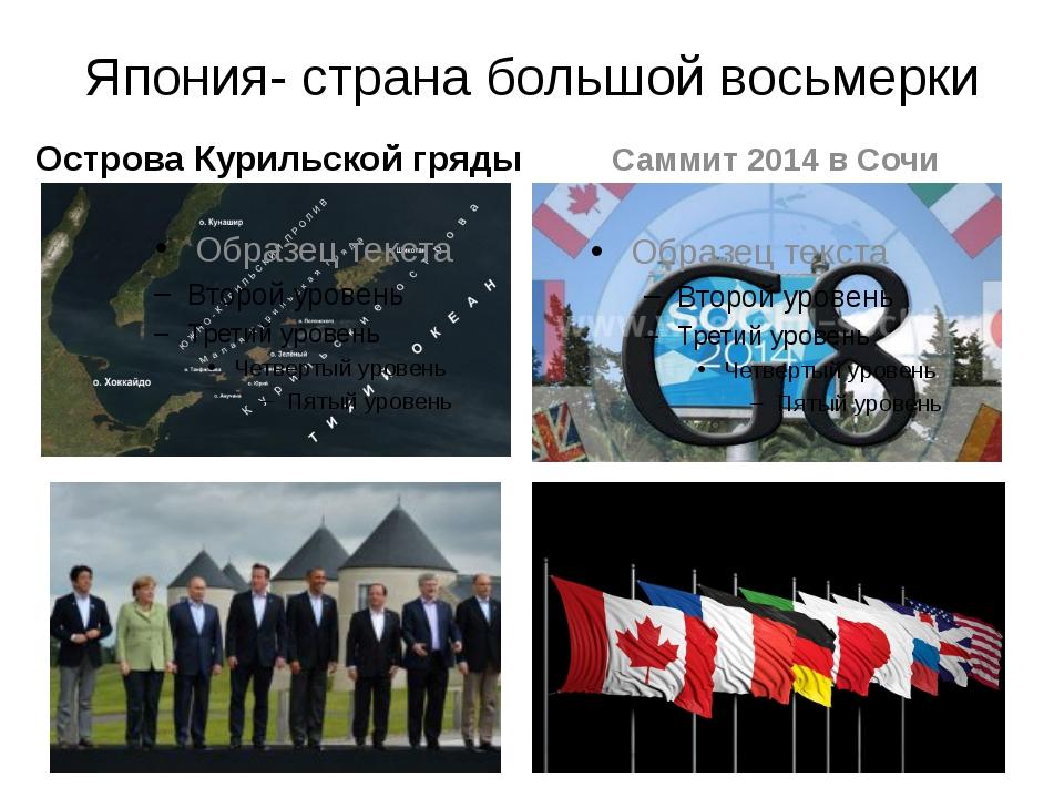 Япония- страна большой восьмерки Острова Курильской гряды Саммит 2014 в Сочи
