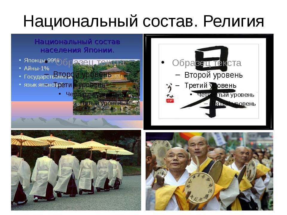 Национальный состав. Религия