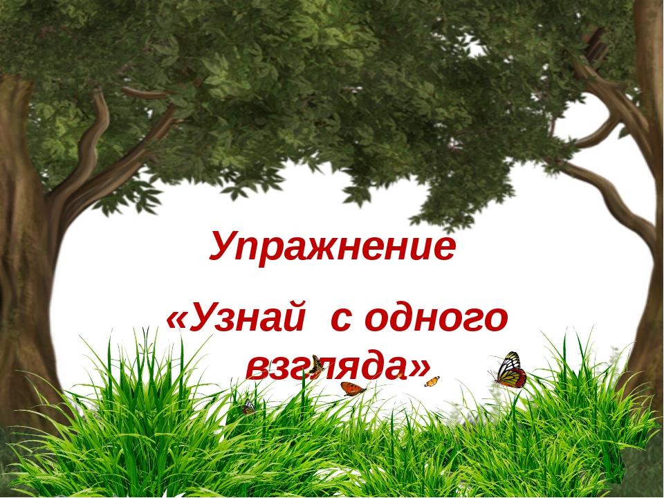 Упражнение «Узнай с одного взгляда»