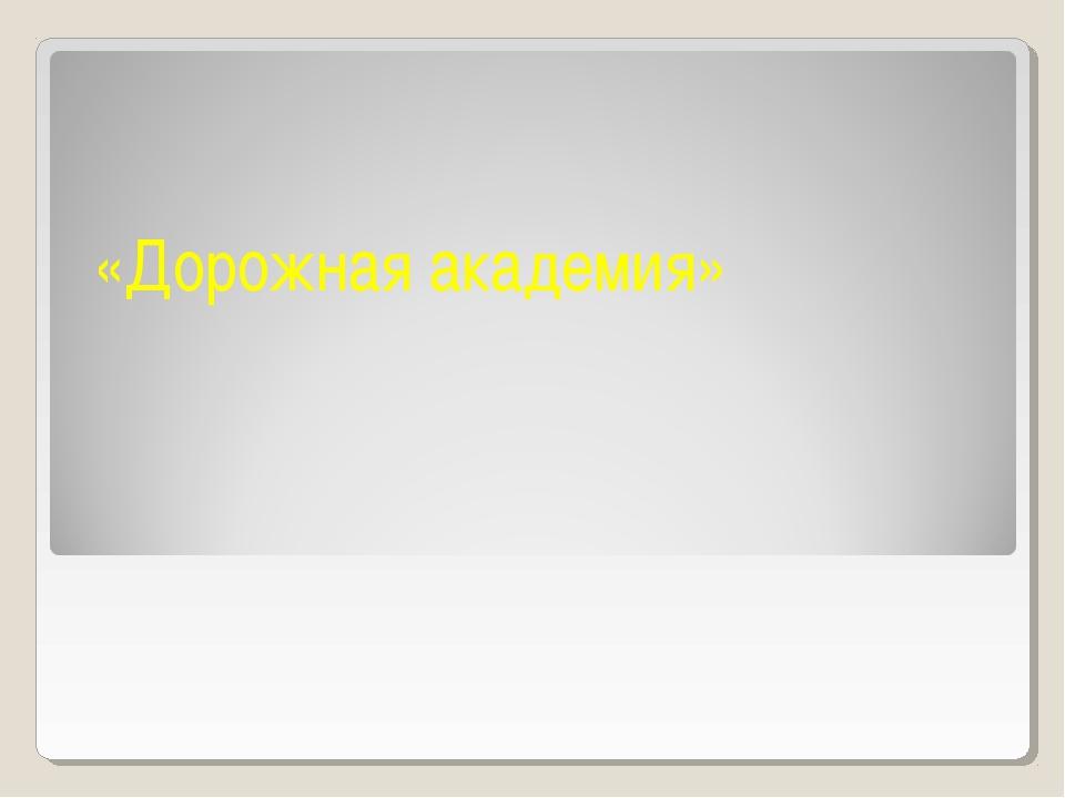 «Дорожная академия»