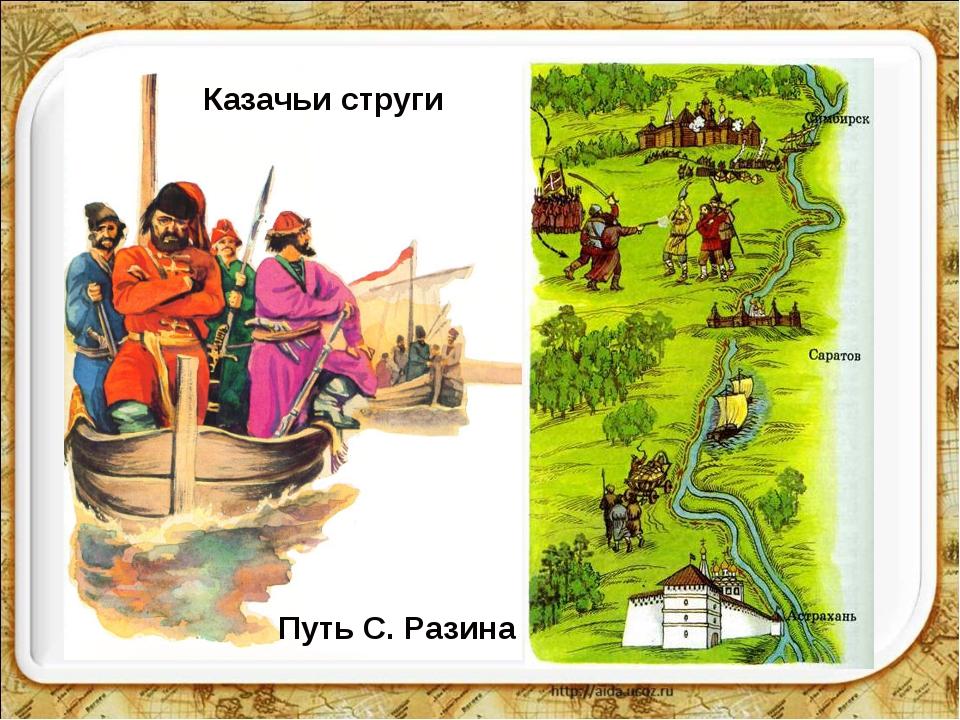 Казачьи струги Путь С. Разина