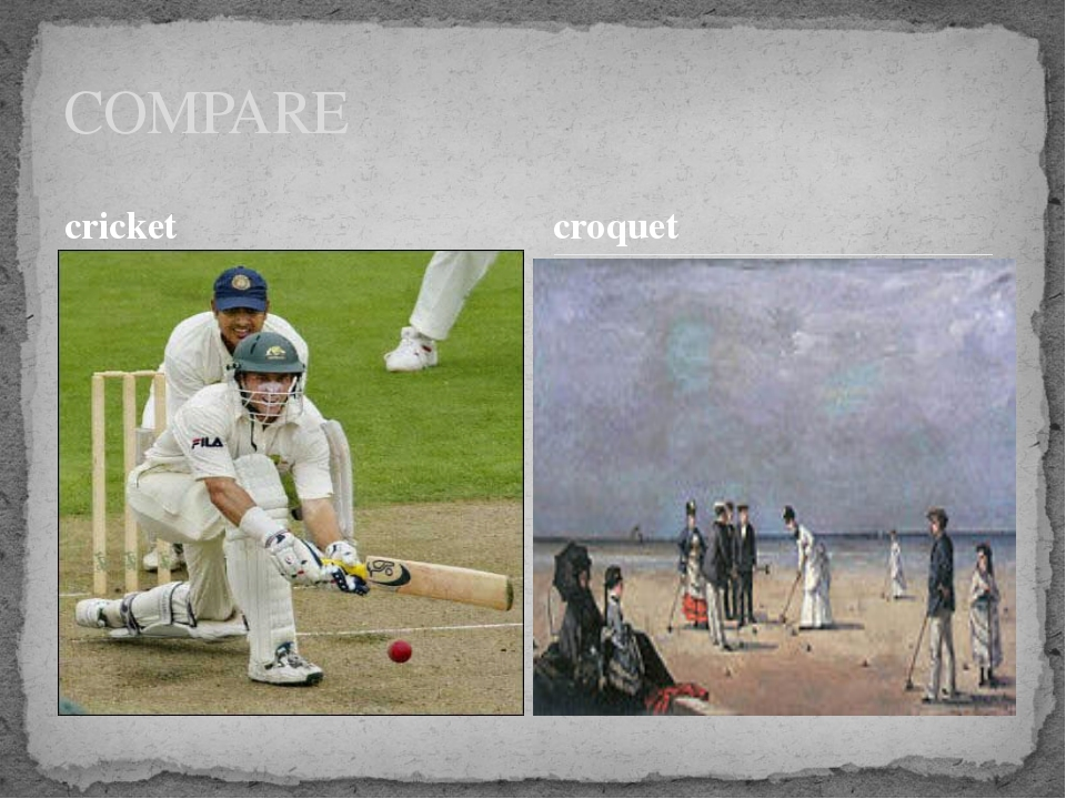 cricket COMPARE croquet