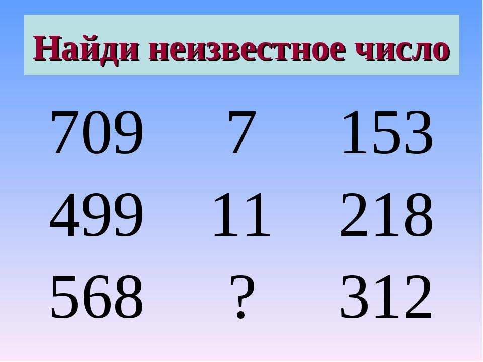 Найди неизвестное число 7097153 49911218 568?312