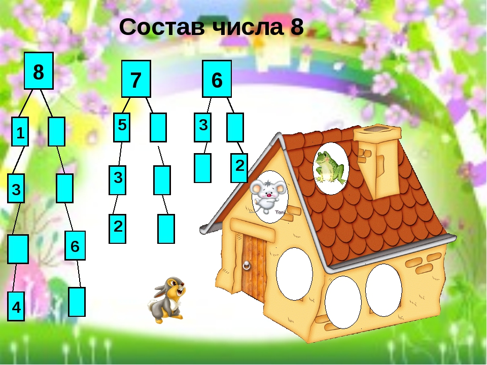 Состав числа 8