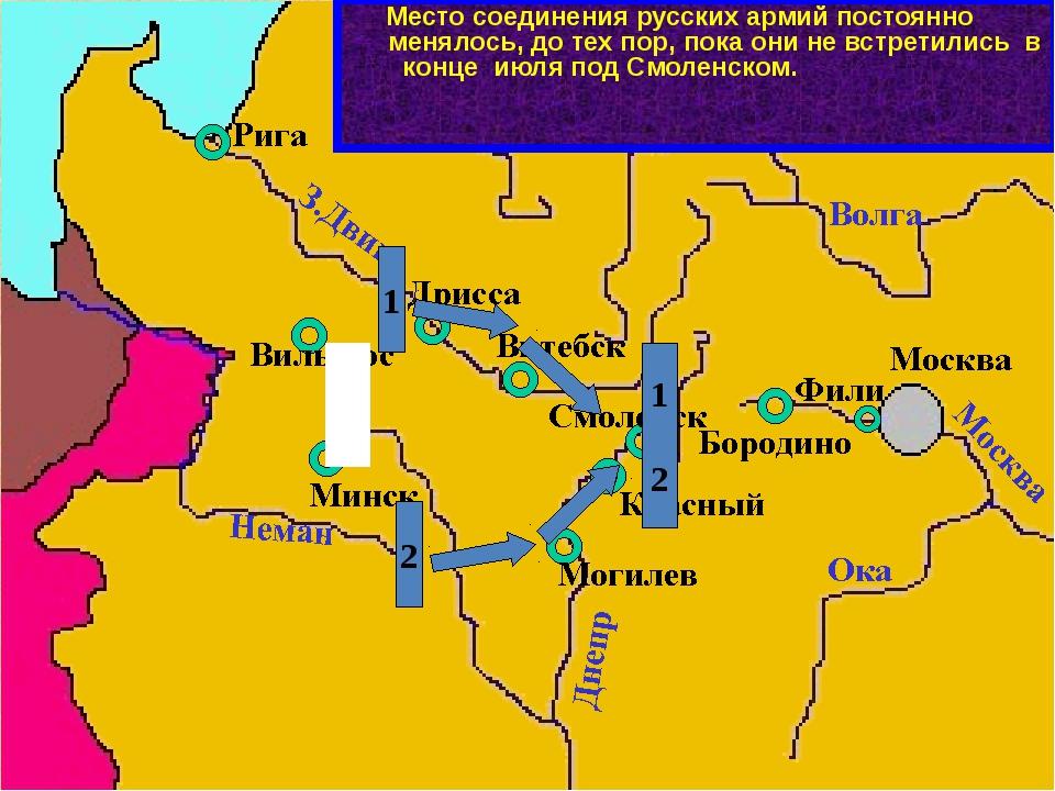 1 2 При отступлении первой армии Багратиона и второй армии Барклая-де-Толли...
