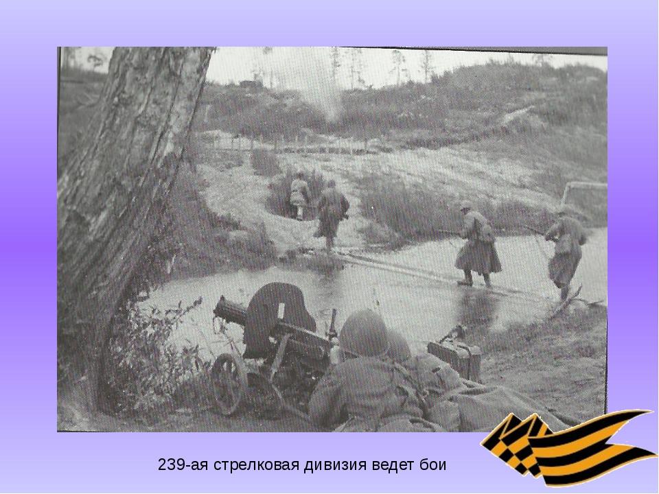 239-ая стрелковая дивизия ведет бои