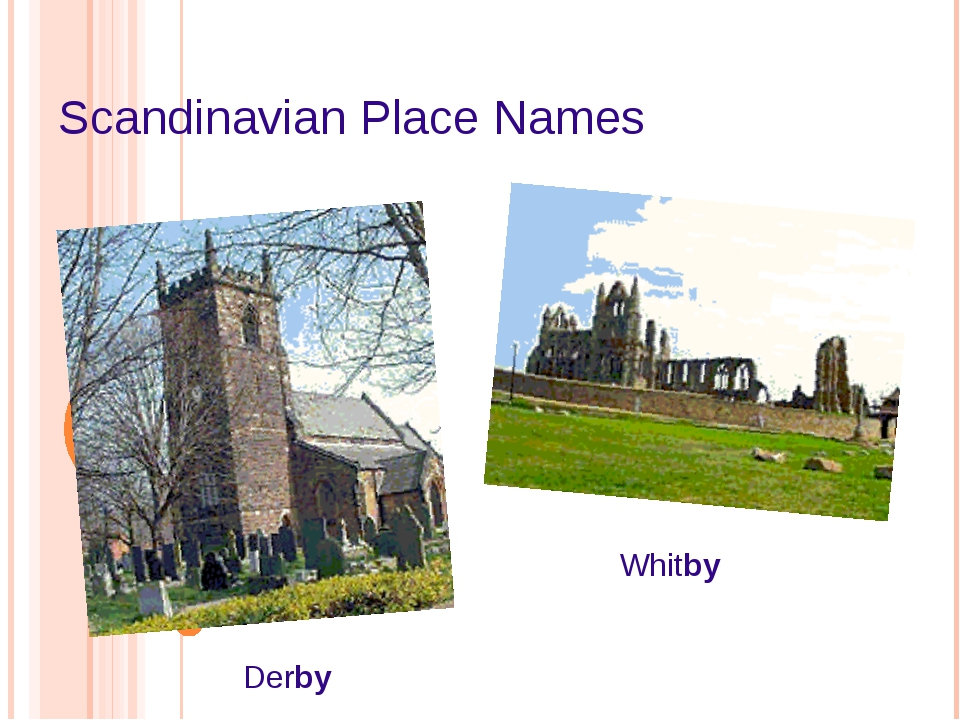 Scandinavian Place Names Derby Whitby