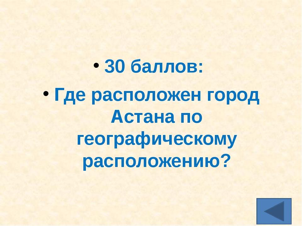 40 баллов: По решению какой организации Астана объявлена городом мира?