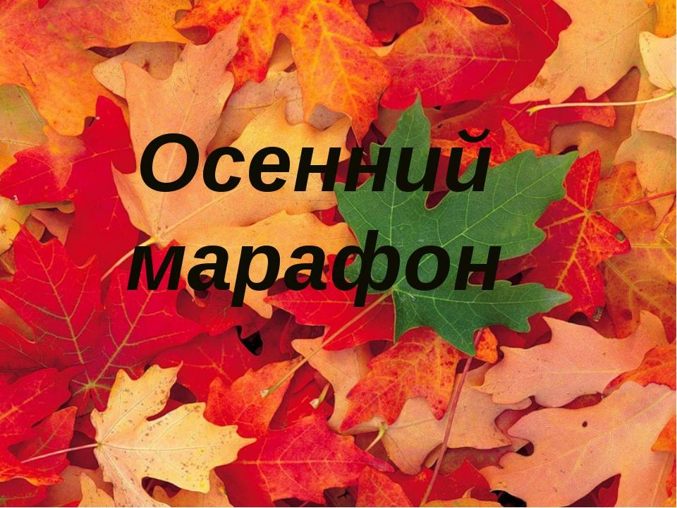 ДАРЫ ОСЕНИ Осенний марафон