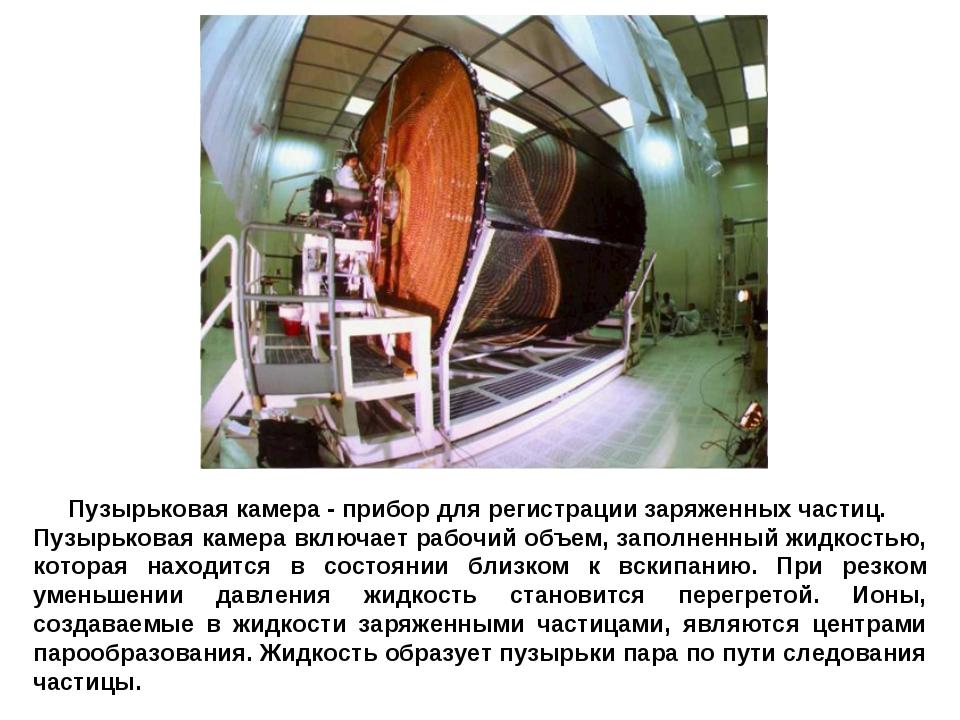 Пузырьковая камера - прибор для регистрации заряженных частиц. Пузырьковая ка...
