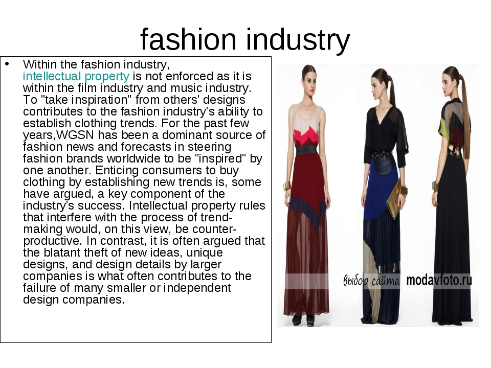 fashion industry Within the fashion industry,intellectual propertyis not en...