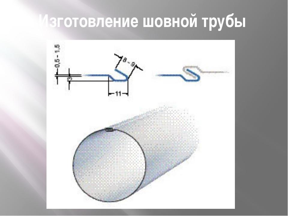 Изготовление шовной трубы