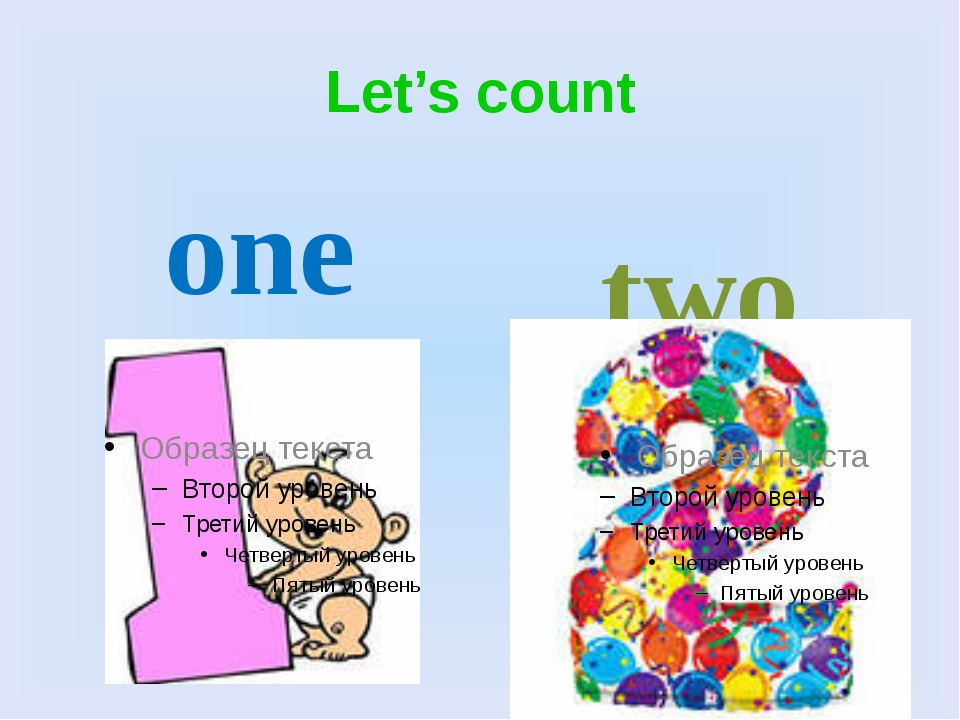 Let's count one two