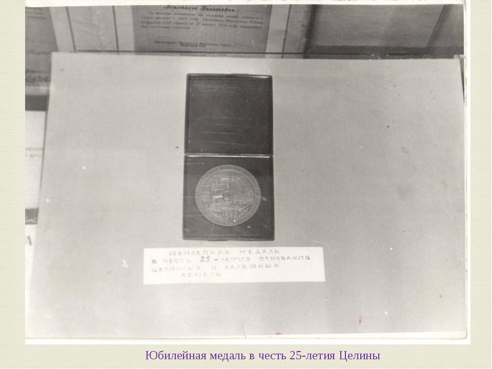Юбилейная медаль в честь 25-летия Целины 