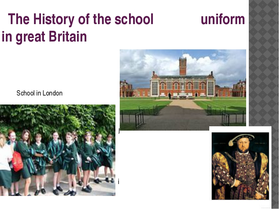 The History of the school uniform in great Britain School in London Christ's...
