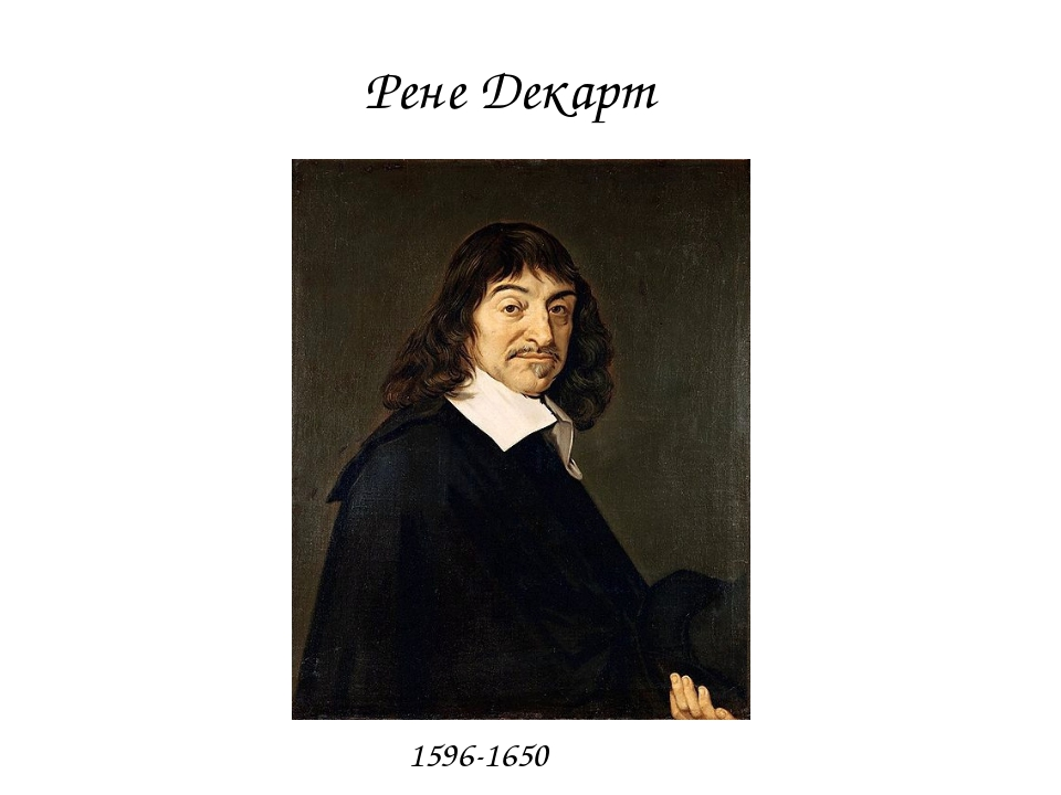 Рене Декарт 1596-1650