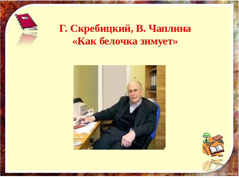 Г. Скребицкий, В. Чаплина «Как белочка зимует»