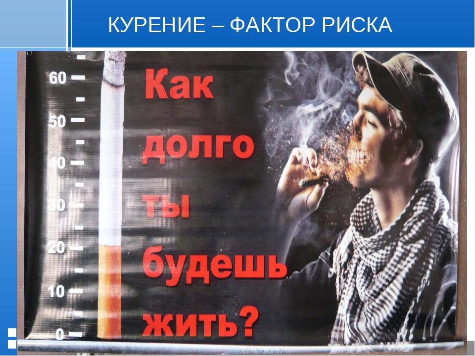 КУРЕНИЕ – ФАКТОР РИСКА Стр. * 20.01.2006 Презентация