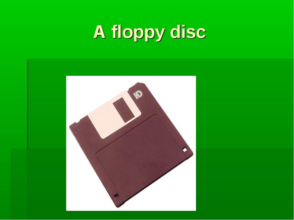 A floppy disc