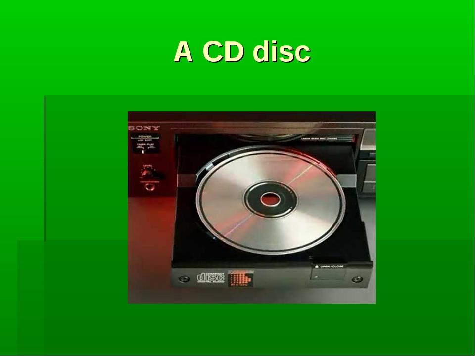 A CD disc