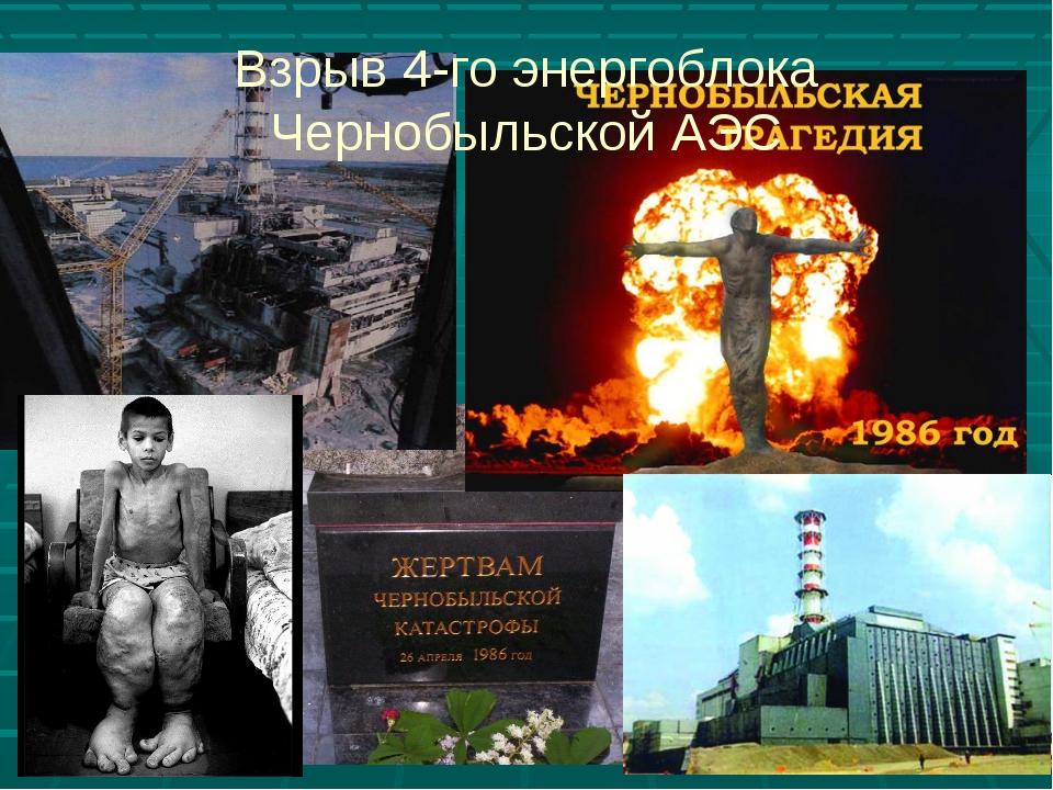 Взрыв 4-го энергоблока Чернобыльской АЭС