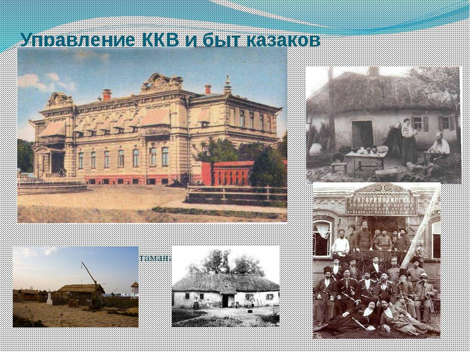 Управление ККВ и быт казаков Дворец наказного атамана в Екатеринодаре