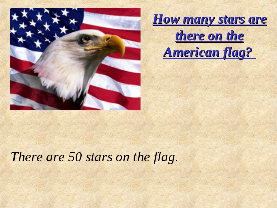How many stars are there on the American flag? There are 50 stars on the flag.