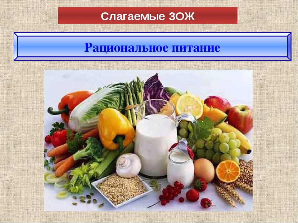 Слагаемые ЗОЖ Рациональное питание