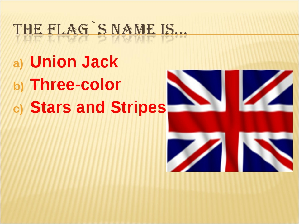 Union Jack Three-color Stars and Stripes