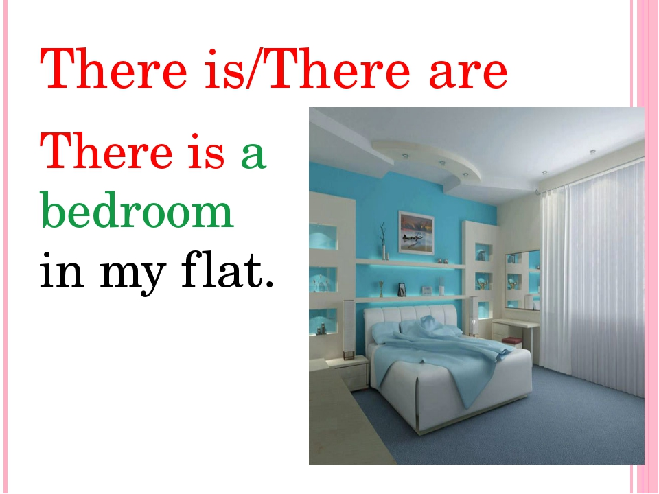 There is/There are There is a bedroom in my flat.