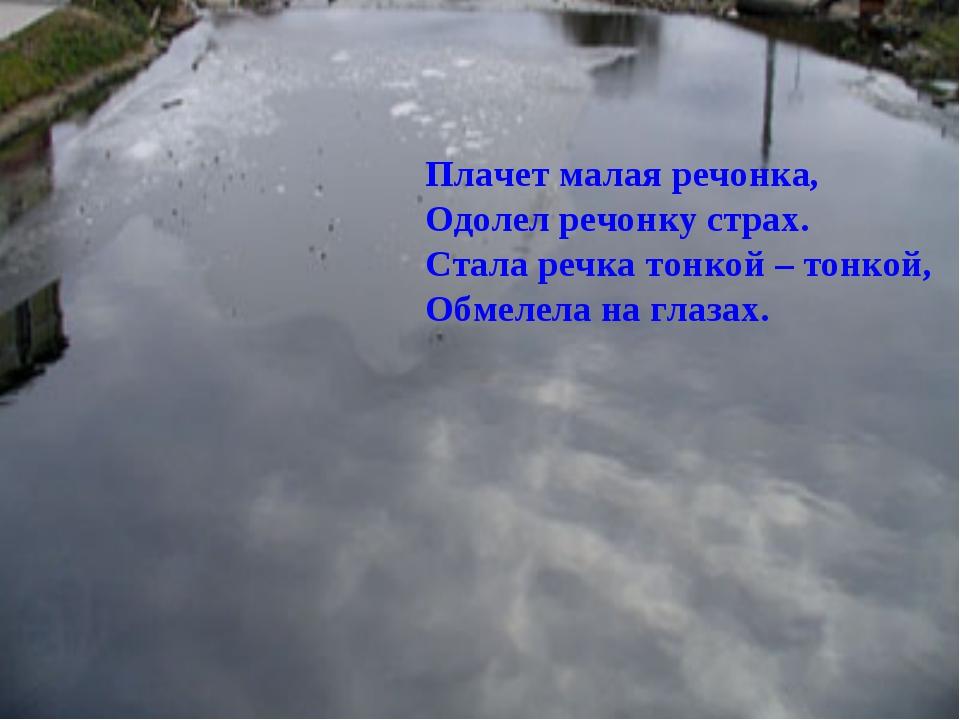 Плачет малая речонка, Одолел речонку страх. Стала речка тонкой – тонкой, Обме...