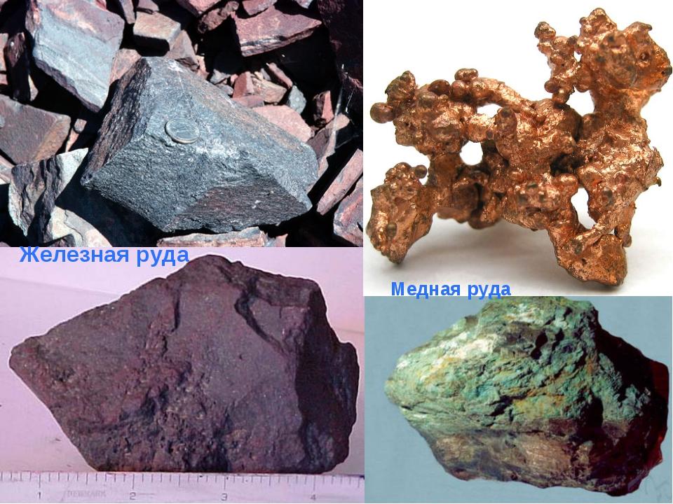 Железная руда Медная руда