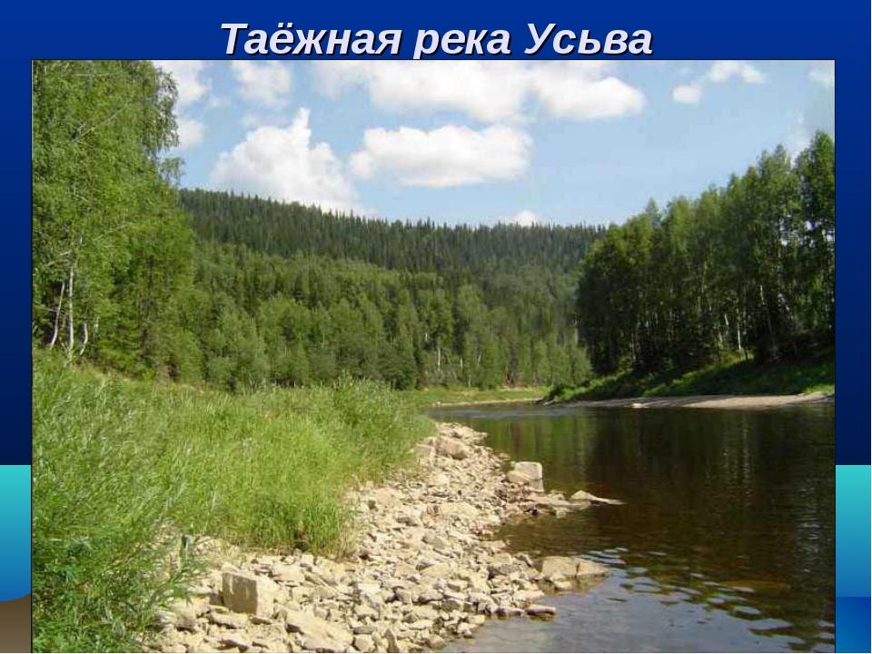 Таёжная река Усьва