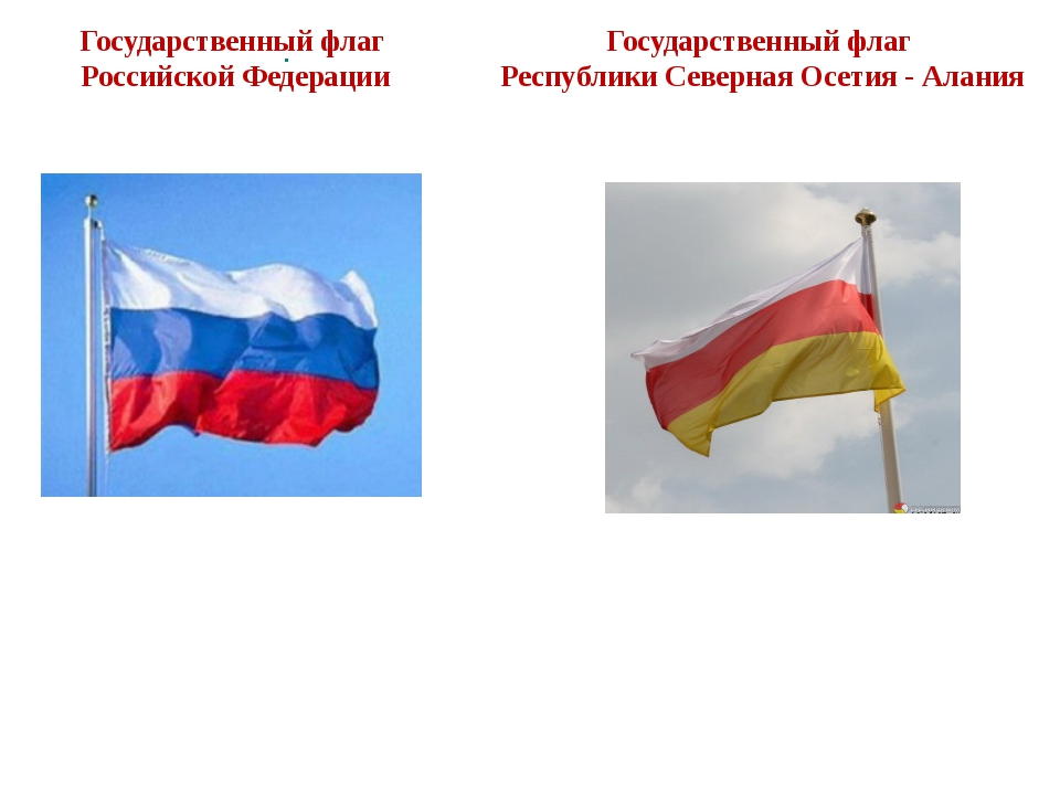 . Государственный флаг Республики Северная Осетия - Алания Государственный фл...