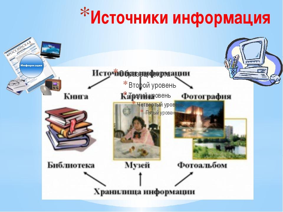 Источники информация