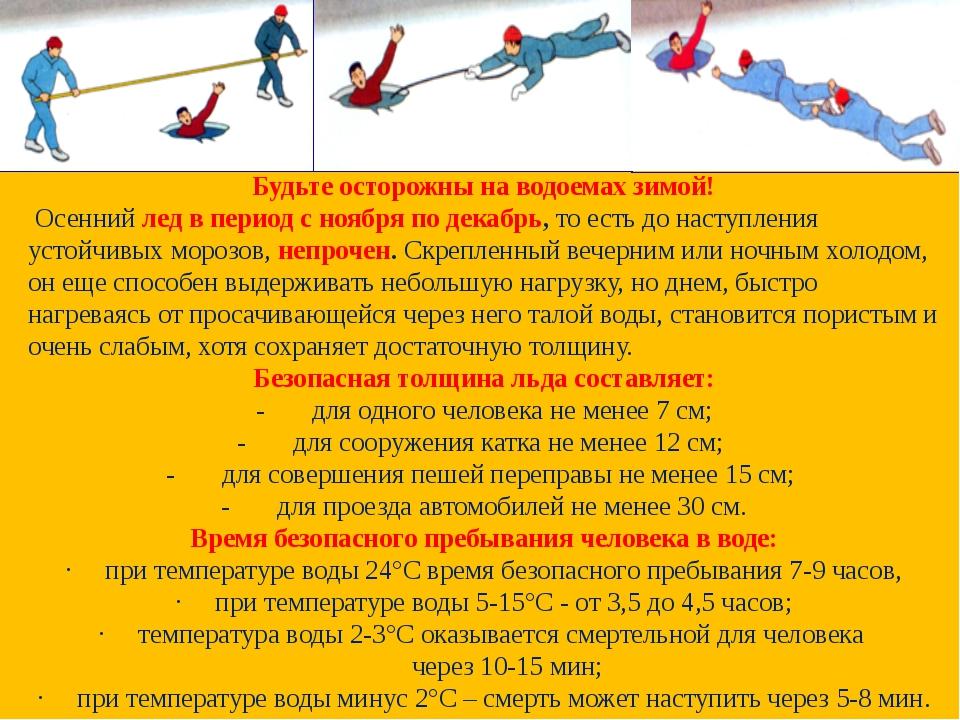 Будьте осторожны на водоемах зимой! Осеннийлед в период с ноября по декабрь,...